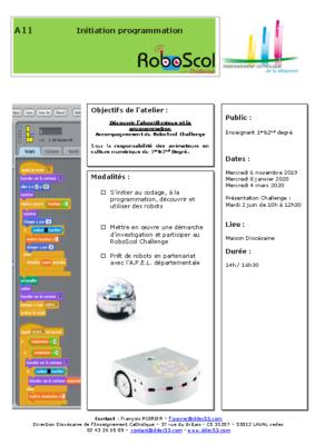 A11-Initiation robotique et programmation
