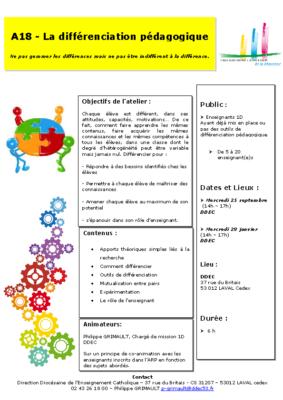 A18-La différenciation pédagogique